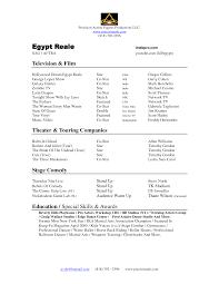 Actor Resume Special Skills 10 Sample Child Modeling Resume Resume Template Info