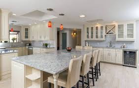 Traditional Kitchens With White Cabinets - traditional kitchen with andino white granite countertops antique