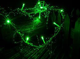 green led string lights silver beads green led string lights