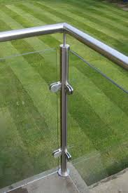 stainless posts and glass balcony derbyshire glass balustrade