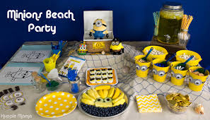 Minions Candy Buffet by Minions Beach Party Ideas Our Potluck Family