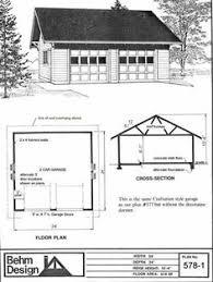 24 x 24 garage plans two car garage with attic plan 480 2a 20 x 24 by behm design