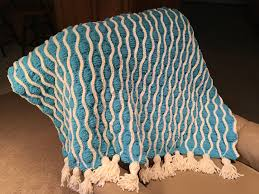 trellis and tassels afghan knitting project by hope g loveknitting