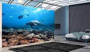 removable wall murals modern decor dogfighter 3d hq removable wall home wall decals under the sea dolphins wall mural dolphins wall mural