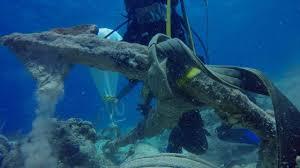 experts discover u0027christopher columbus u0027 anchor at caribbean