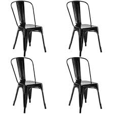 Tolix Bistro Chair Set Of 4 Tolix Style Dining Side Chair Stackable Bistro Cafe Metal