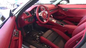 porsche boxster interior 2013 porsche boxster s 981 platinum silver on carrera red