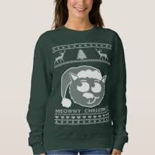 meowy christmas sweater worst christmas sweaters cat christmas sweaters