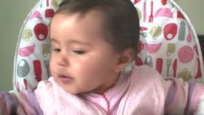 High Sitting Chair Baby Sitting In High Chair Stock Footage Video 328588