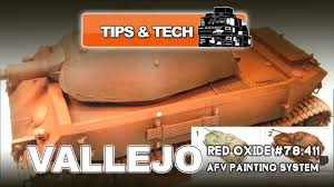 vallejo afv painting system red oxide 78 411 youtube