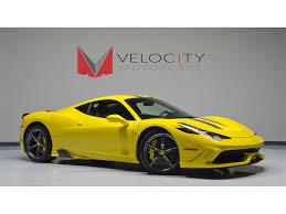 Ferrari 458 Yellow - 2014 ferrari 458 speciale for sale in nashville tn stock