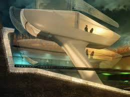 futuristic interior design the white hollow chair is a hastac 2011