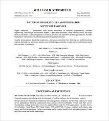 System Administrator Resume Example by Database Administrator Resume Template U2013 8 Free Word Excel Pdf
