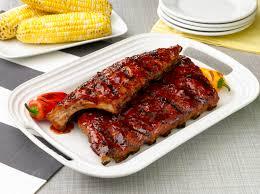 pork bbq ribs calories