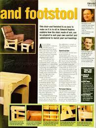 lounge chair plans u2022 woodarchivist