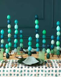 Aqua Table L Stackable Easter Eggs Centerpiece Easter Centerpieces And
