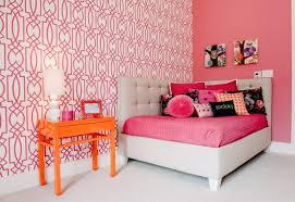papier peint chambre ado fille chambre ado fille avec mur corail mur en papier peint et console