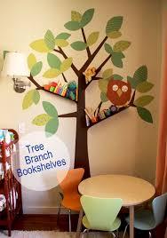 Wall Bookshelves For Kids Room by Baby Nursery Diy Tree Branch Bookshelf Pepper Design Kids