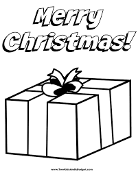 christmas present coloring pages print contegri com