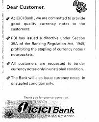 Business Closing Letter To Customers by Notice Board Icici Bank Ltd