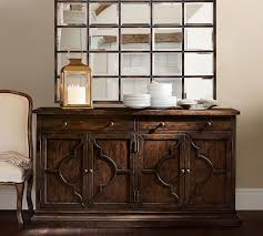 Pottery Barn Benchwright Media Lorraine Buffet Pottery Barn With The Eagan Multipanel Mirror