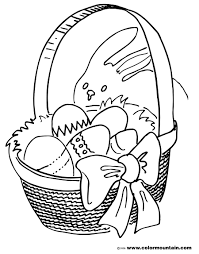 easter basket coloring page create a printout or activity