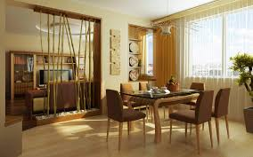 classic dining room interior design with rectangular oaks table