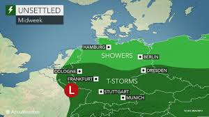 Dresden Germany Map by Thunderstorms To Rumble Across Germany Through Midweek