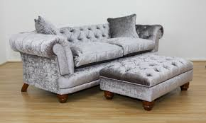 Grand Chesterfield Sofa  Footstool - Sofa and footstool