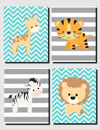 boy animal wall art boy animal nursery jungle safari von trmdesign
