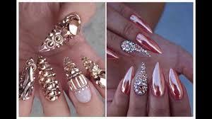 bling bling glamour nail art designs u0026 ideas december 2016 youtube