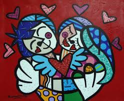 romero britto romero britto spreads message of hope and happiness with stone