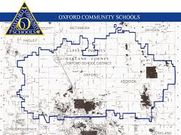 Oakland County Michigan Map by District Boundaries Oxford Community