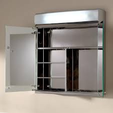 delview stainless steel medicine cabinet with lighted mirror