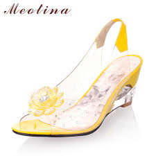 Online Buy Wholesale Wedges Shoes For Women Yellow From China