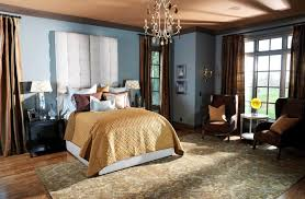 english country bedroom traditional with light blue upholstered