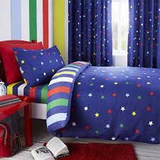 Childrens Duvet Cover Sets Blue Multi Stars Reversible Duvet Cover Great For Boys Bedrooms
