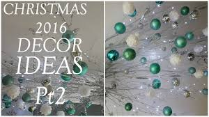 christmas decor ideas ceiling twigs and ornaments 2016 youtube