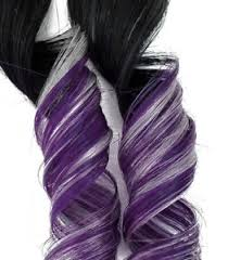 mermaid hair extensions rainbow clip in human hair extensions purple and silver ombre 1b
