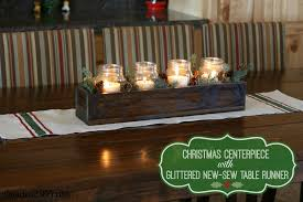 home sew catalog christmas centerpiece with glittered no sew table runner