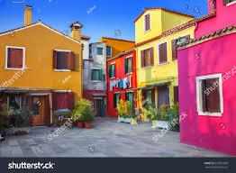 Italy Houses Colorful Houses Burano Venice Italy Stock Photo 525901069