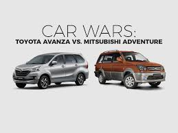 toyota avanza philippines car wars toyota avanza vs mitsubishi adventure toyota motors