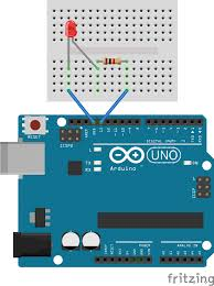 Led Blinking Circuit Diagram Getting Started With The Arduino Controlling The Led Part 1