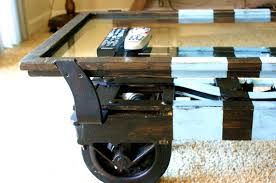 rustic coffee table with wheels peeinn com