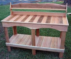 Wood Planter Bench Plans Free by One Of Our Fancier U0026 Largest Designed Potting Benches This