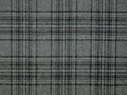 morlich wool fabric a grey taupe and black large check tartan