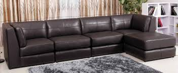 venezia leather sectional and ottoman lawrence top grain leather sectional with ottoman jessa place dune