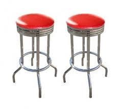retro chrome swivel bar stools foter