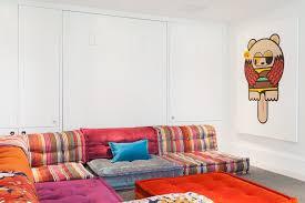 marvelous mah jong sofa interior designs with blue bench wall