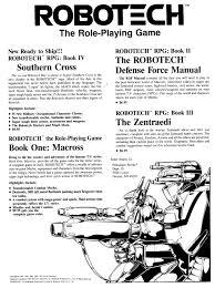 rpg floor plans 1987 robotech rpg advertisement